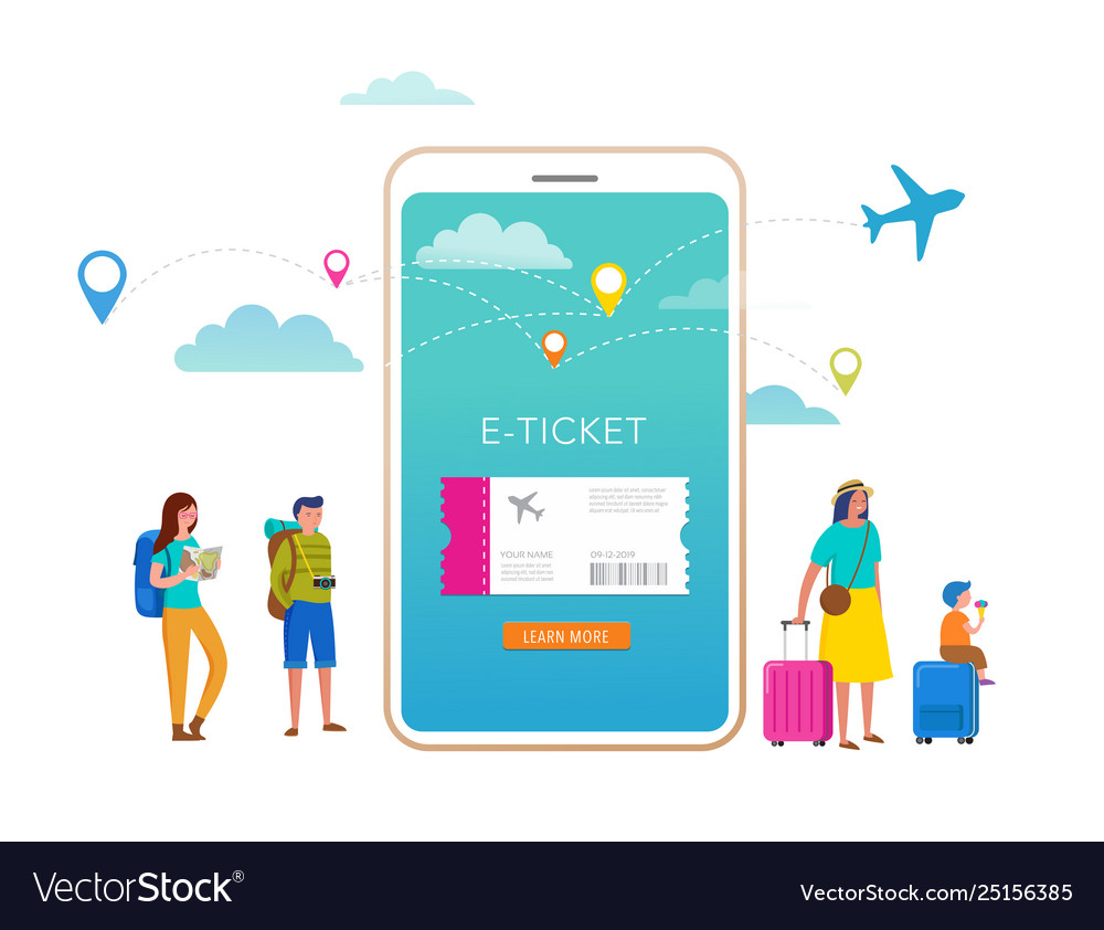 Travel tourism adventure scene with smartphone