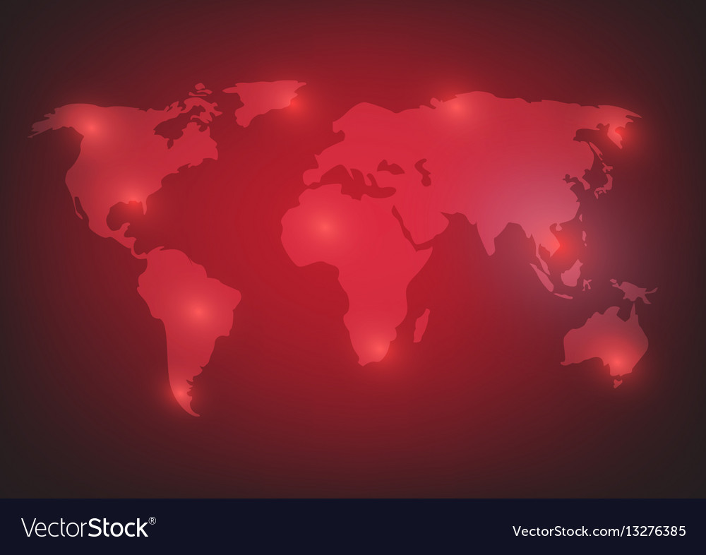 World map background on red