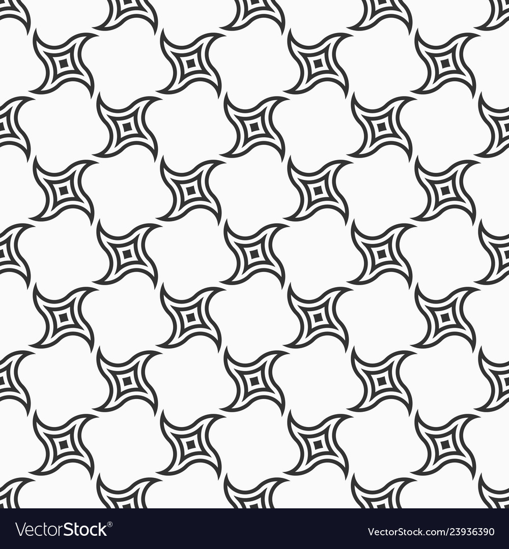 Abstract seamless pattern of swirling geometric