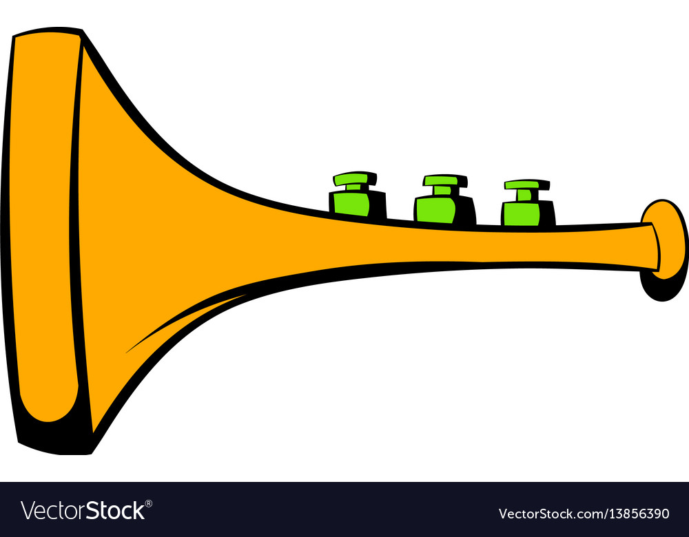 Children plastic trumpet icon icon cartoon