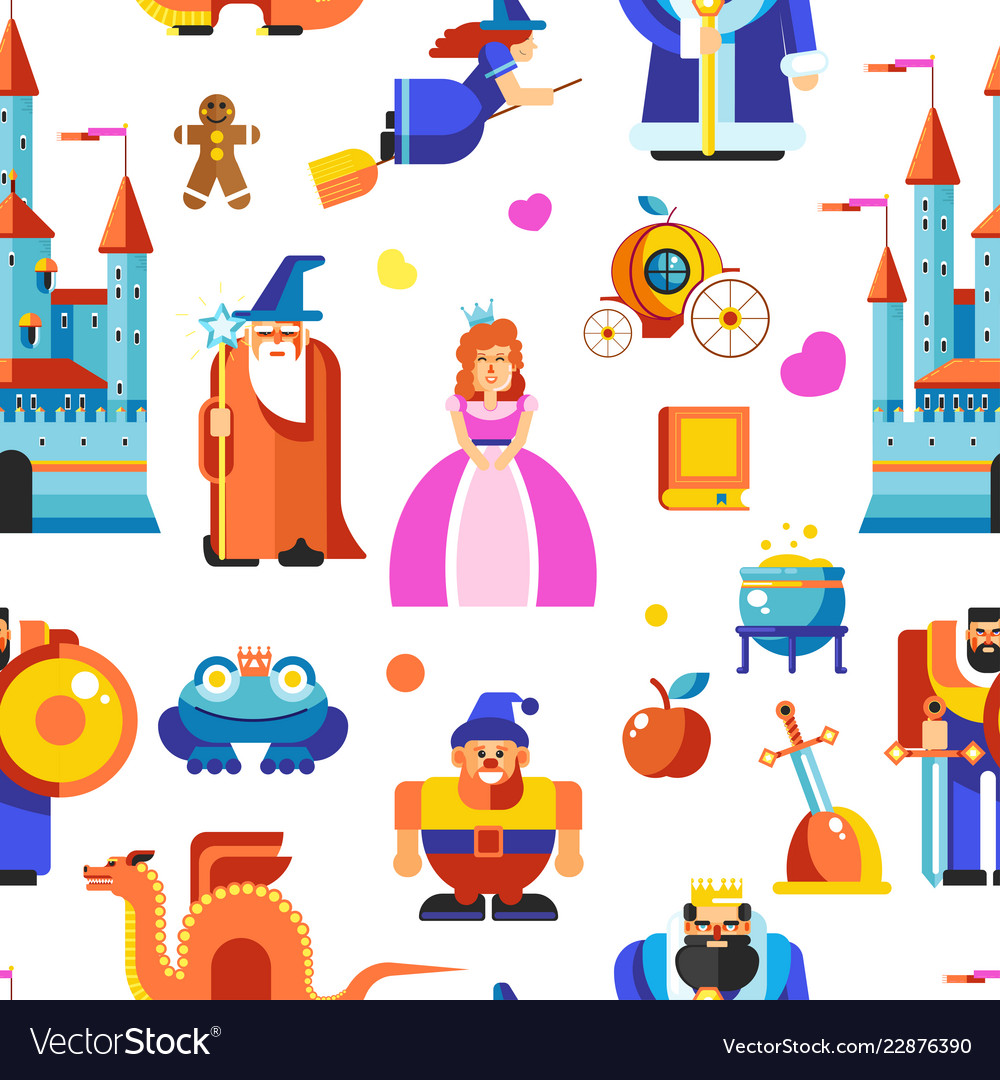 Disneyland princess and wizards castle seamless