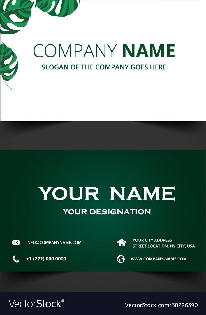 Elegant green business card