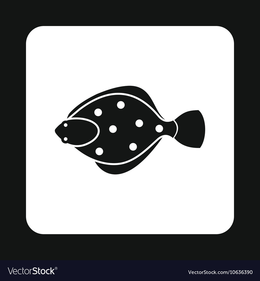 Flounder icon simple style