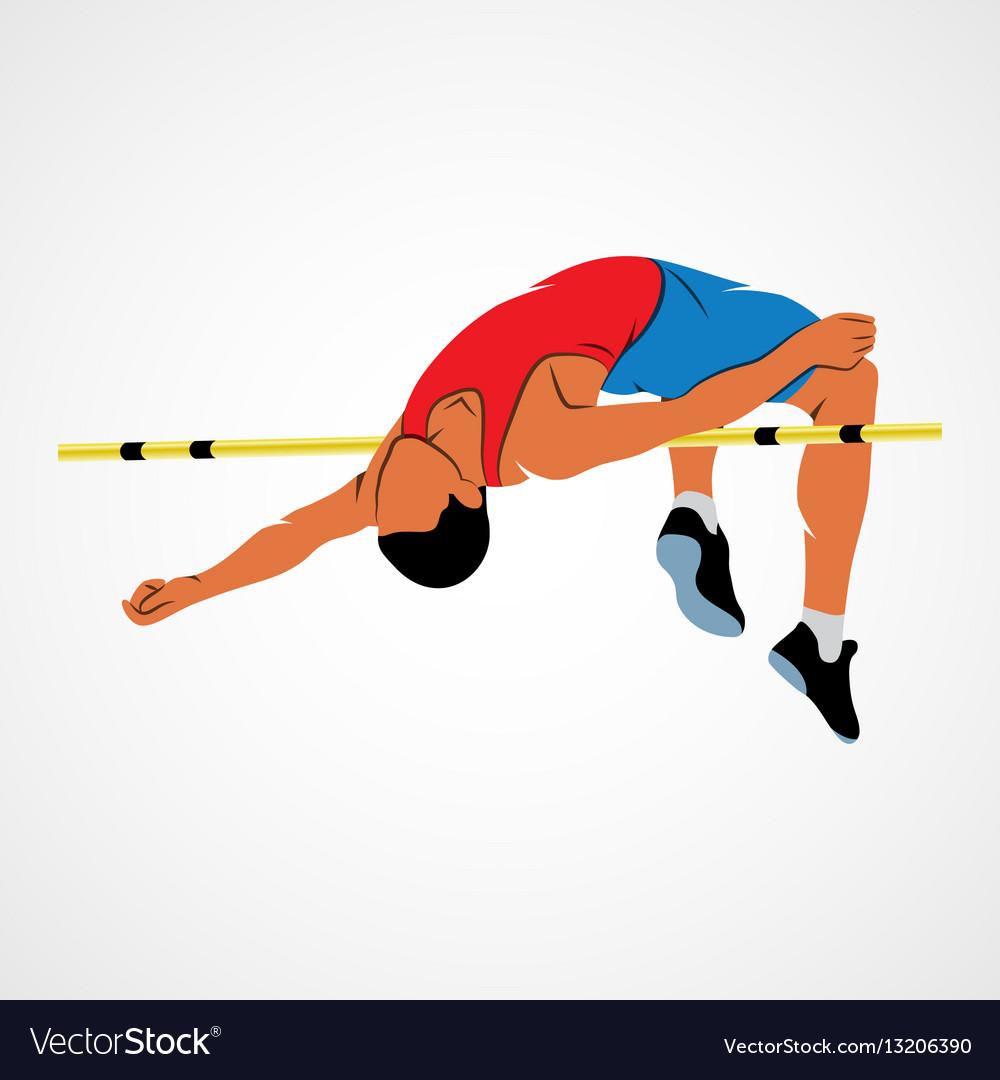 High Jump Athlete Royalty Free Vector Image Vectorstock