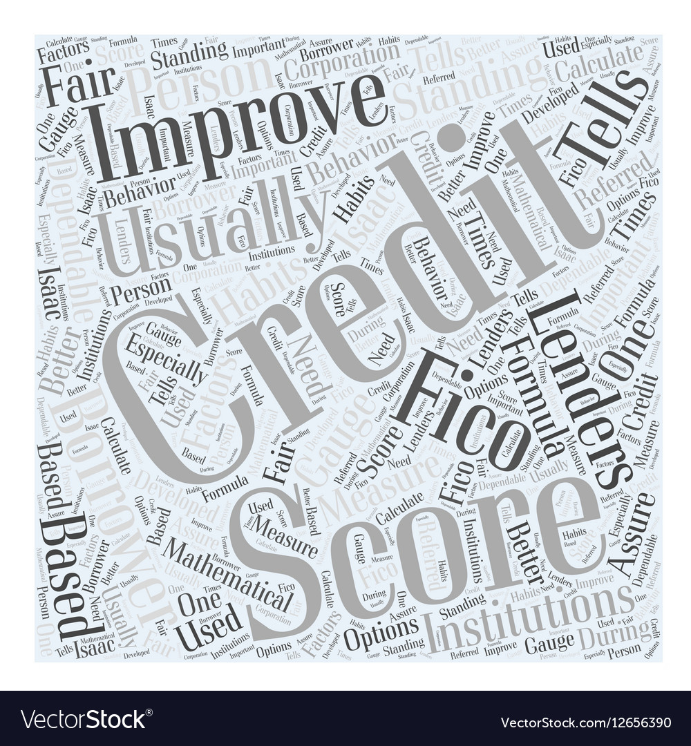 How to improve your credit score Word Cloud