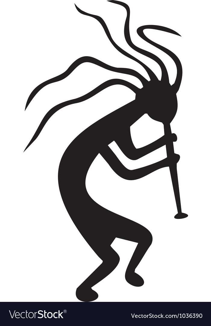 Kokopelli - tribal tattoo symbol vector image