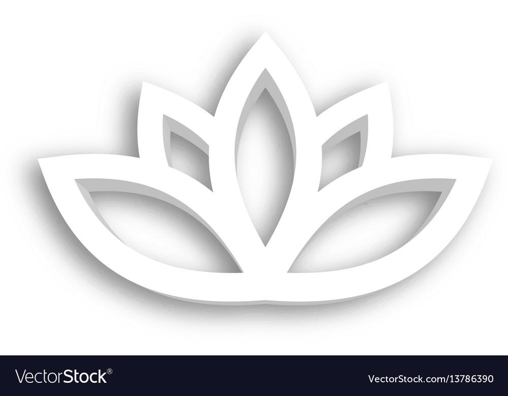 Lotus flower 3d icon on white background wellness vector image izmirmasajfo