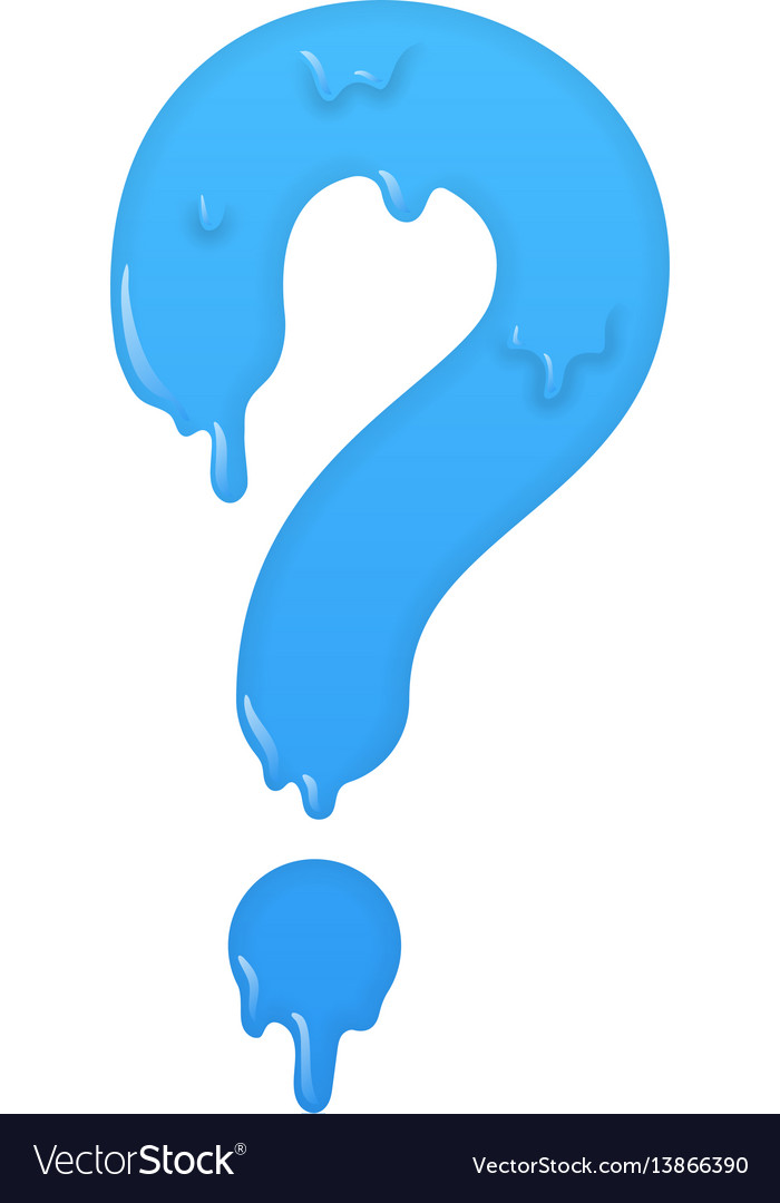 Melting question icon ask symbol vector image