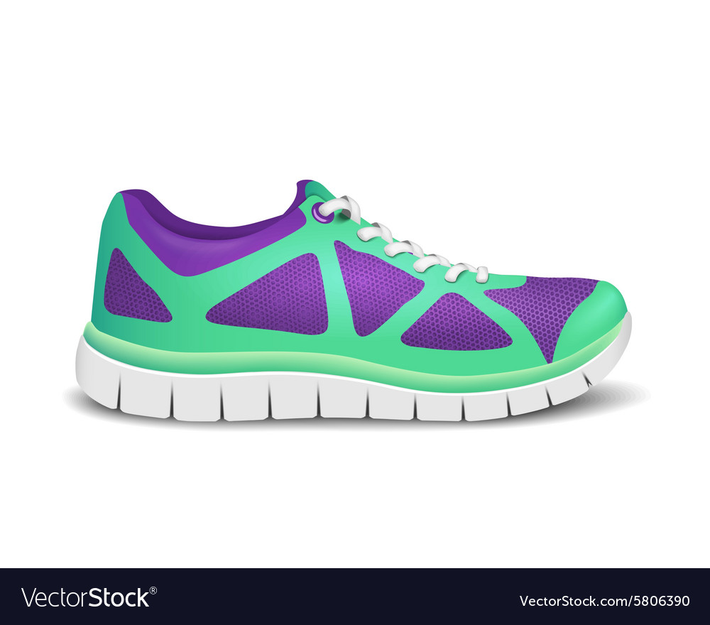 f02e281096a9 Realistic bright sport shoes for running Vector Image