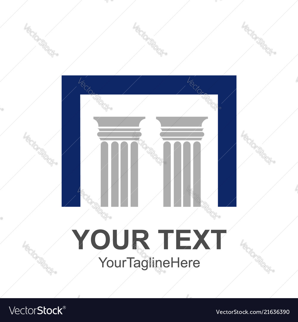 Two pillars with a capital n square letter for