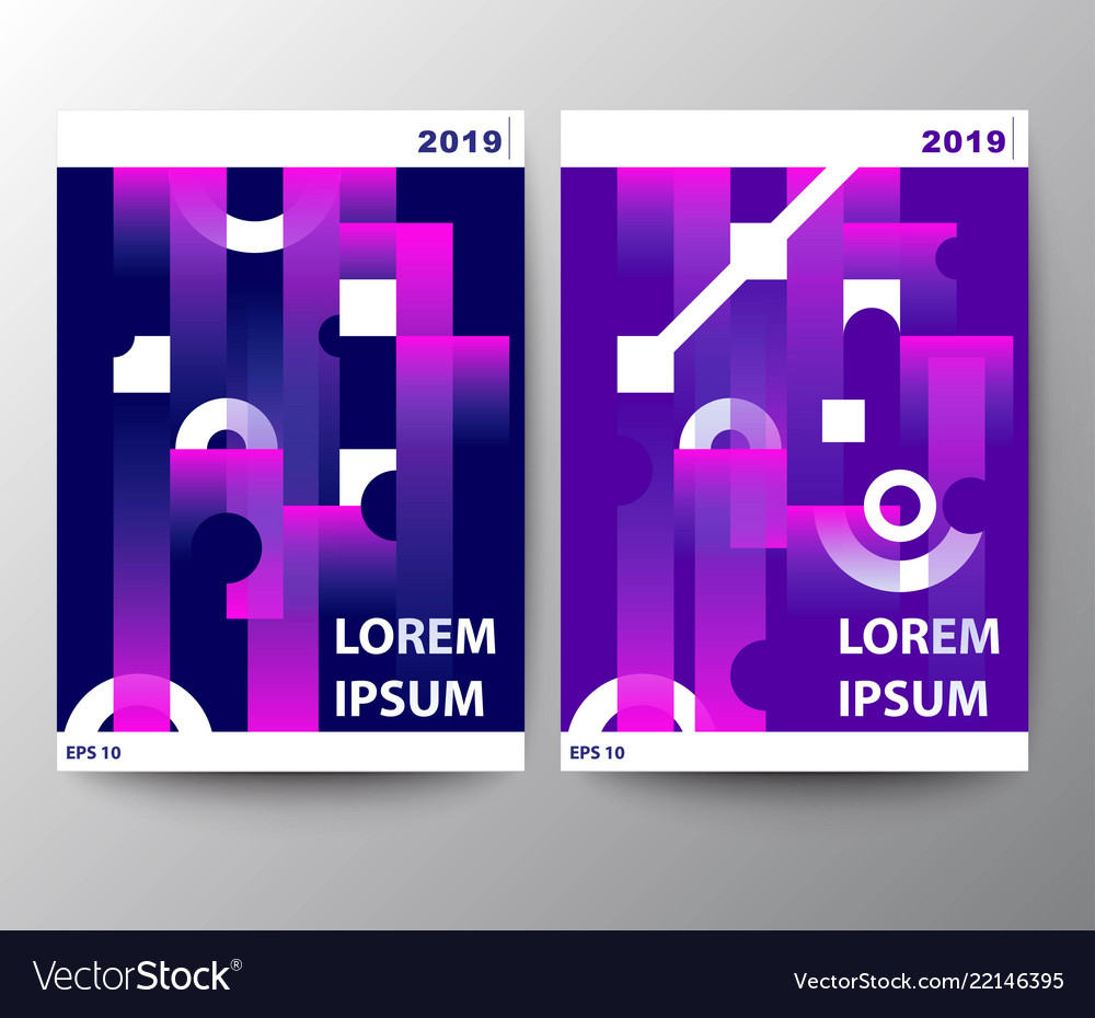 Colorful leaflet templates geometric pattern