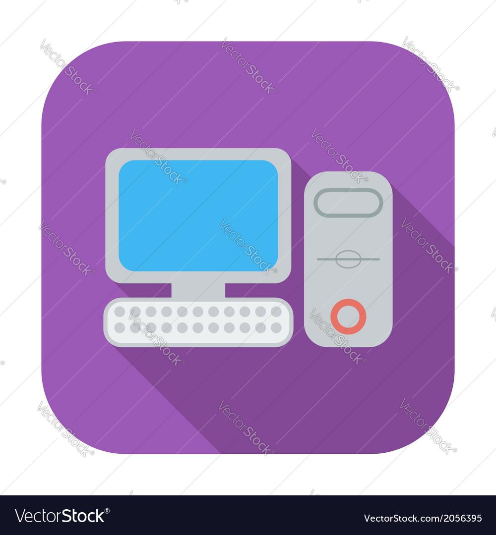 Computer flat icon 2
