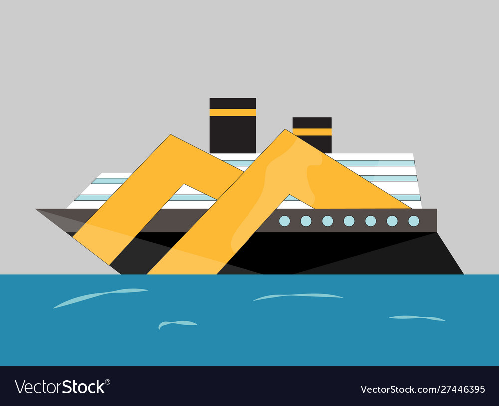 Cryise liner icon ship at sea transport