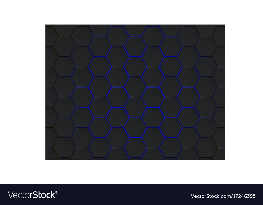 Dark gray and blue hexagons modern geometrical
