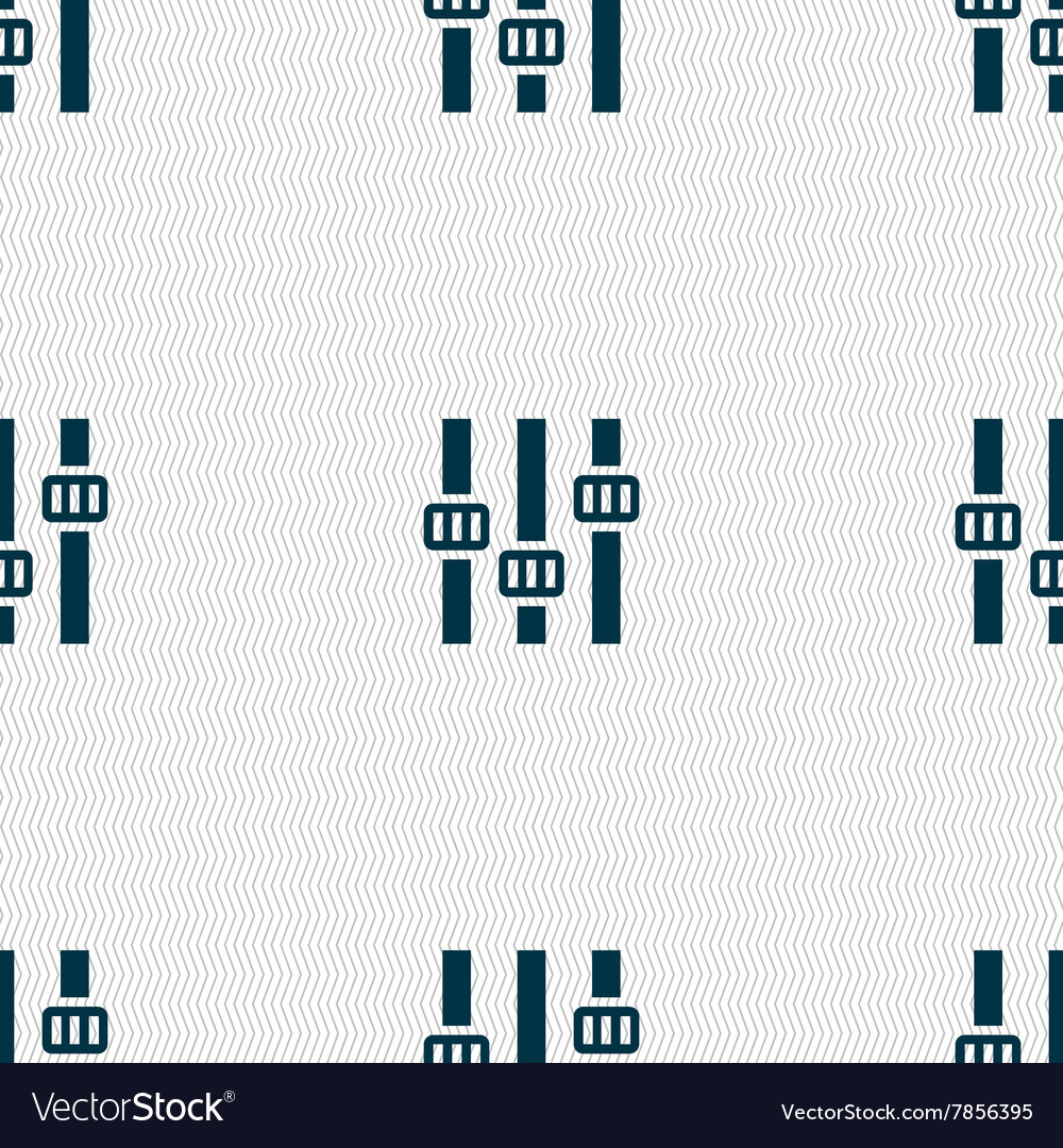 Equalizer icon sign Seamless pattern with