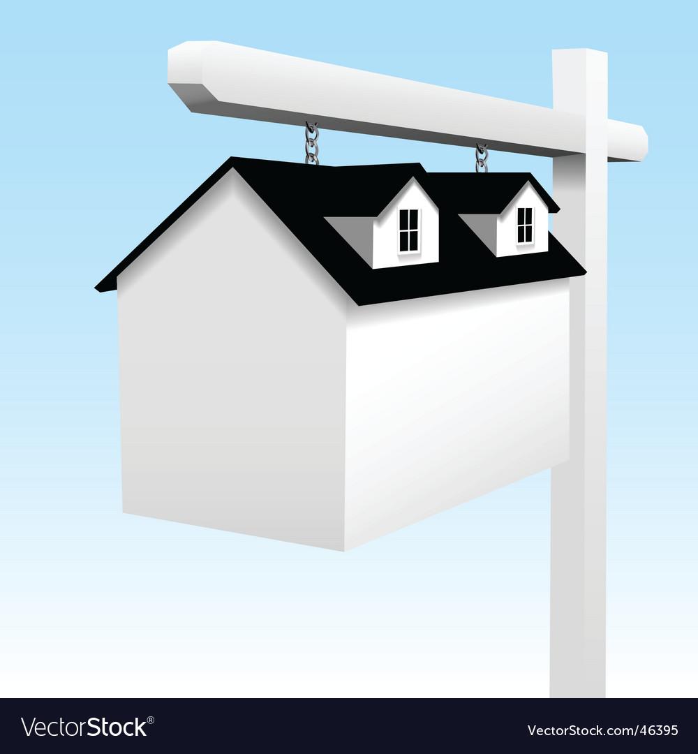 Home real estate yard sign