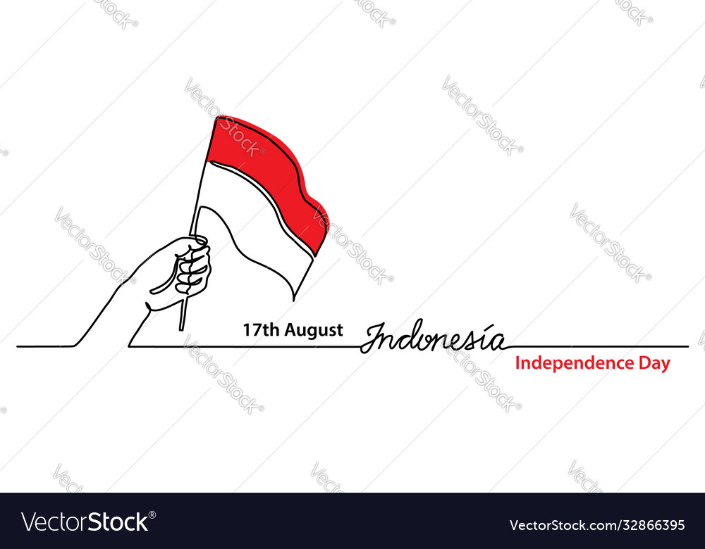 Indonesia independence day simple web banner