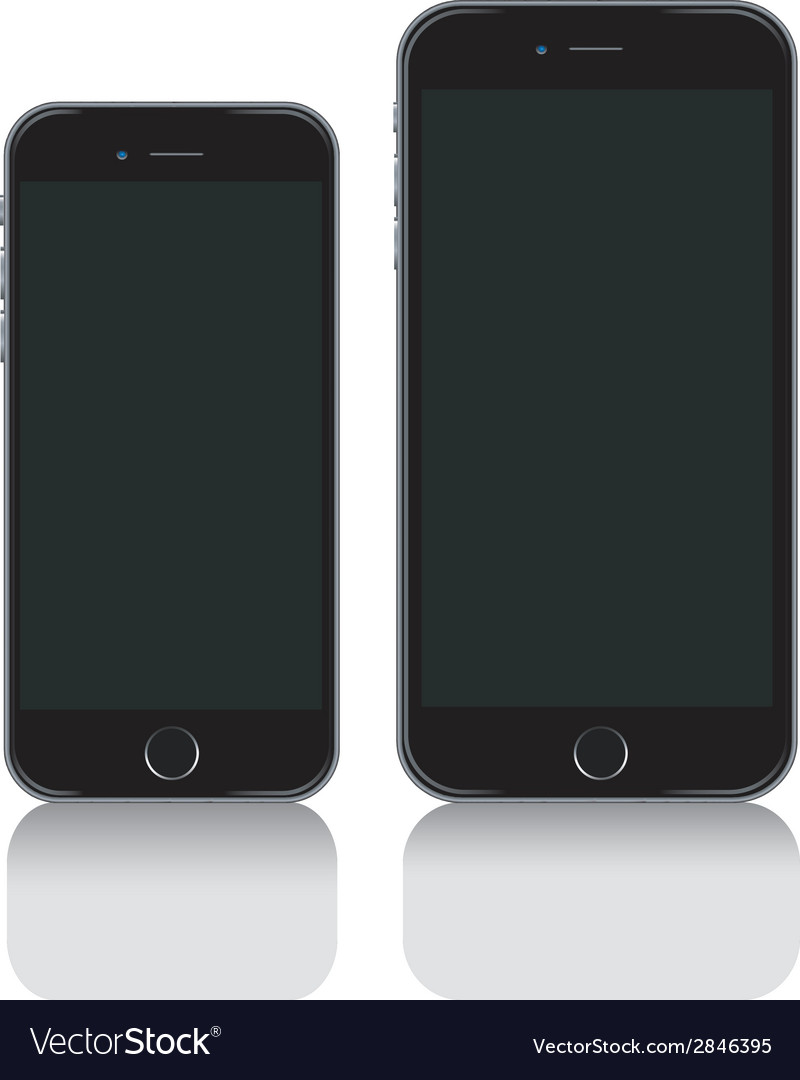 IPhone 6 iPhone 6 plus and iphone 6s vector image