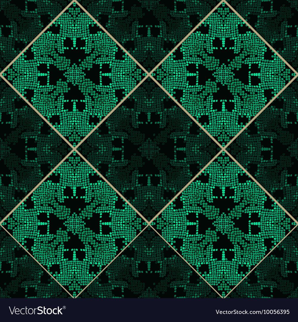 Patchwork emerald green texture