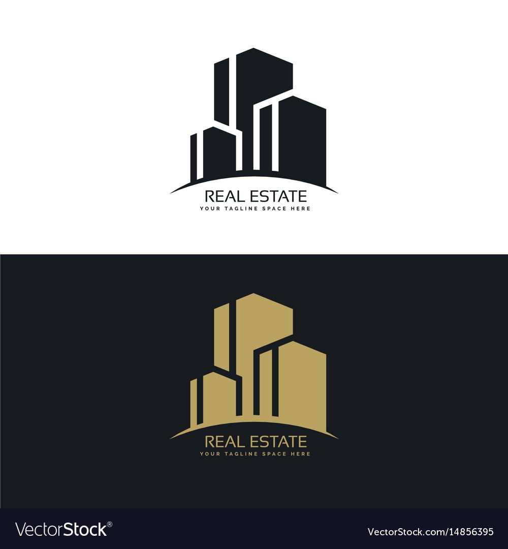 Real estate logo design concept design vector image