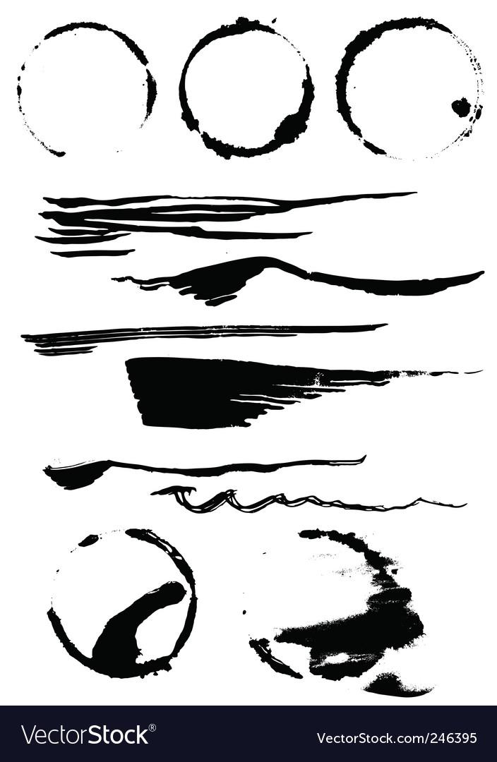 Set of blots