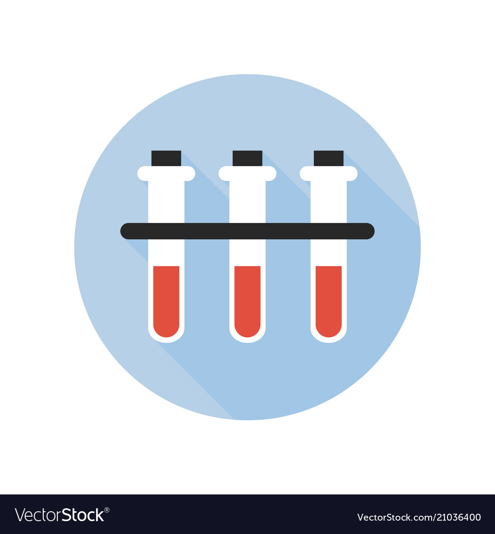 Blood type test tube icon fluid reaction