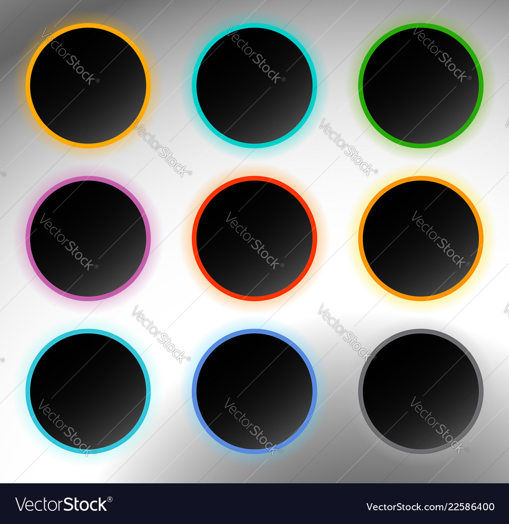 Circle buttons badges button backgrounds with