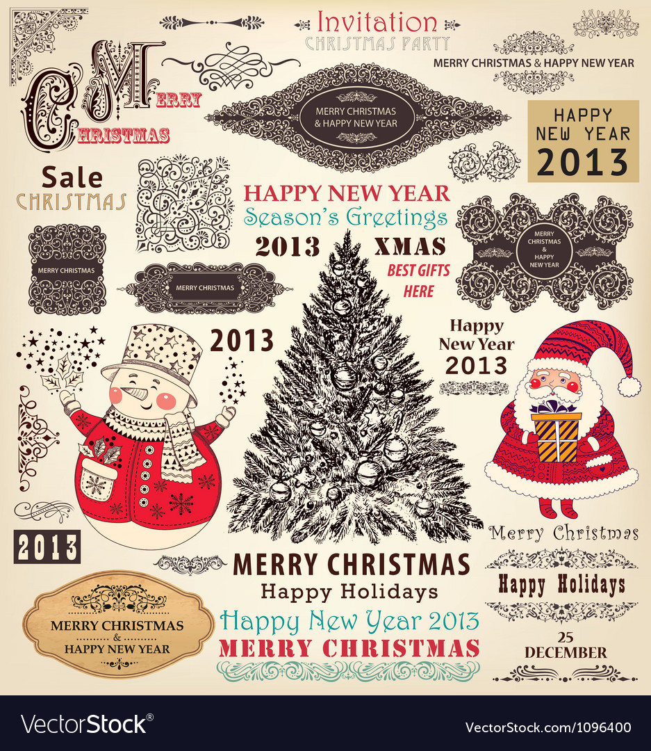 Collection of Christmas Ornaments and Decor