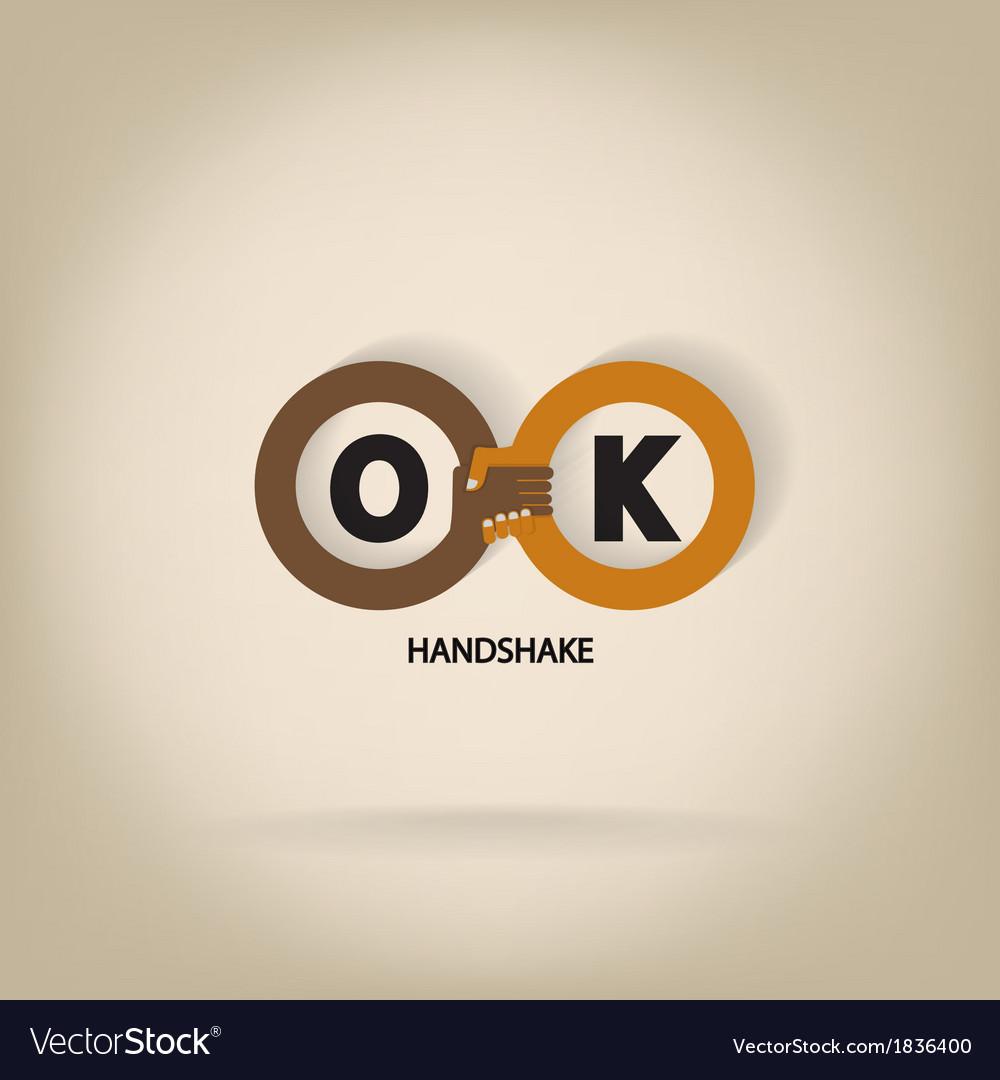Handshake abstract symbol vector image