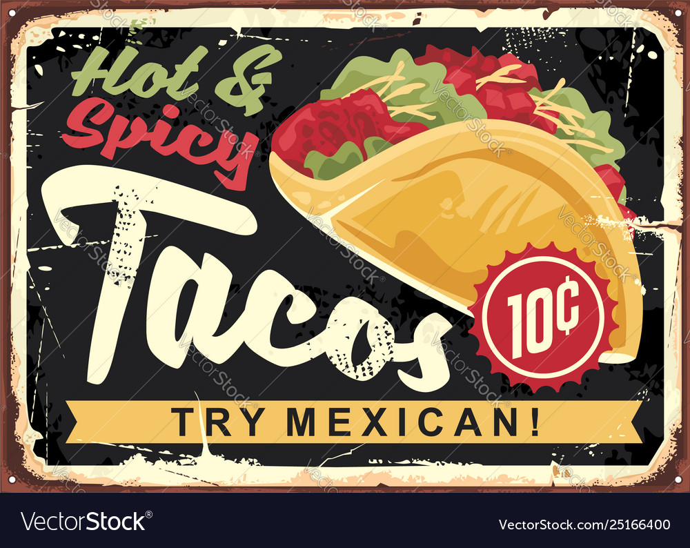 Hot and spicy mexican tacos