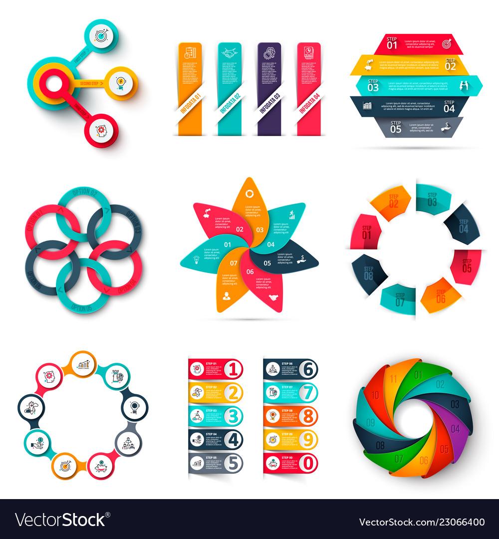 Infographics design template set business