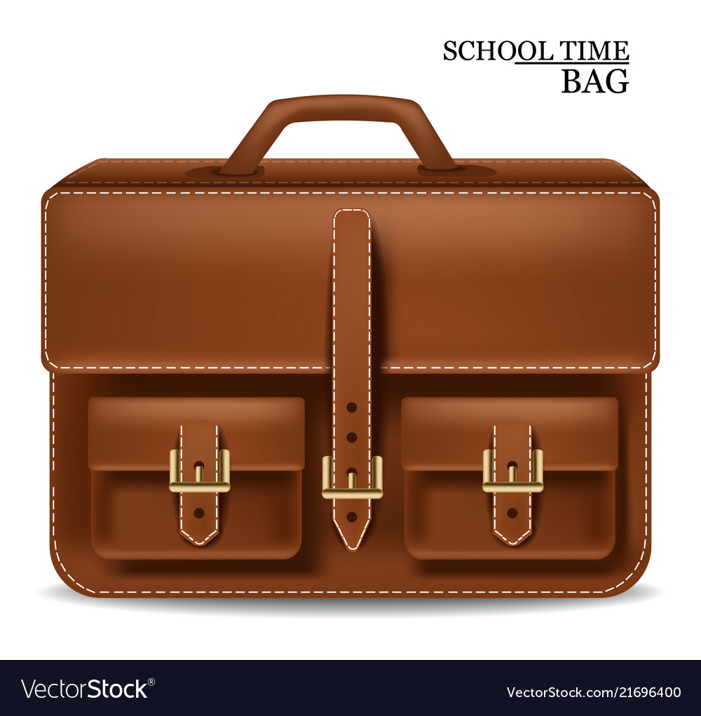 Leather bag realistic detailed 3d