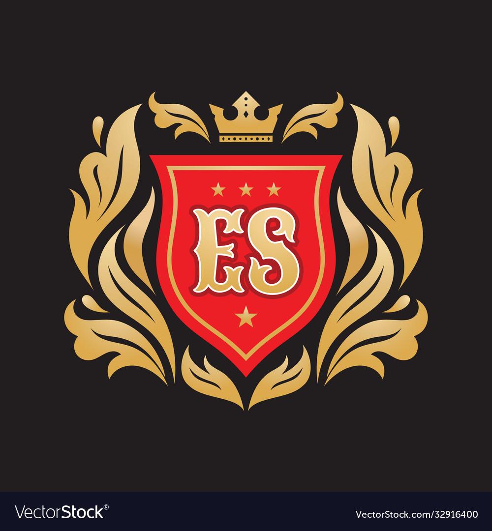 Monogram E S Initial Letters Concept Logo Vector Image