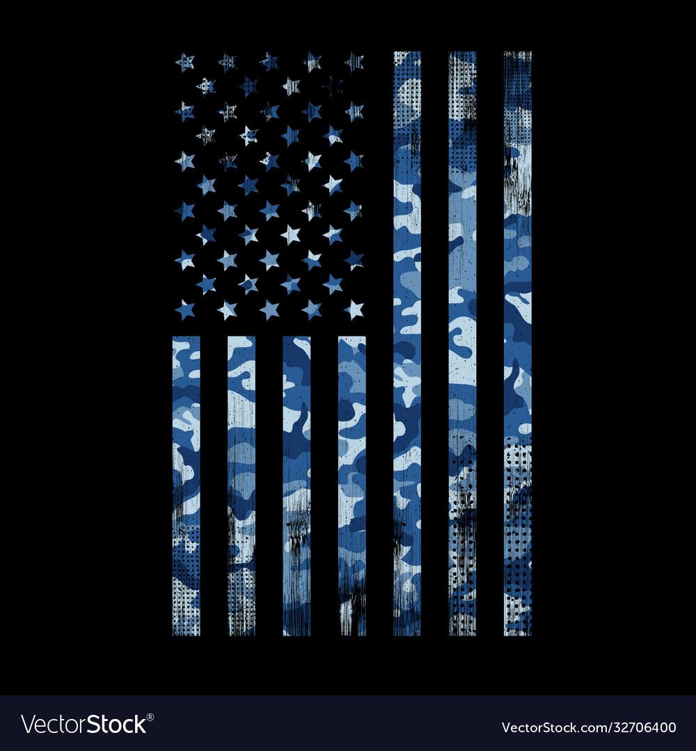 Usa flag navy camouflage