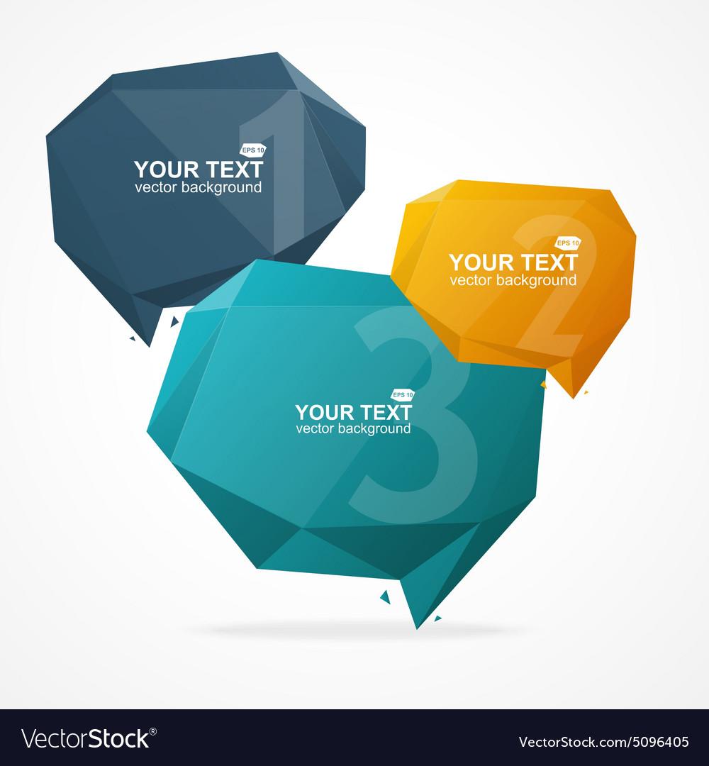 Geometric Bubble Text Menu