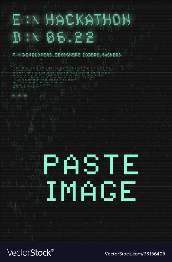 Hackathon poster retrowave cyberpunk style