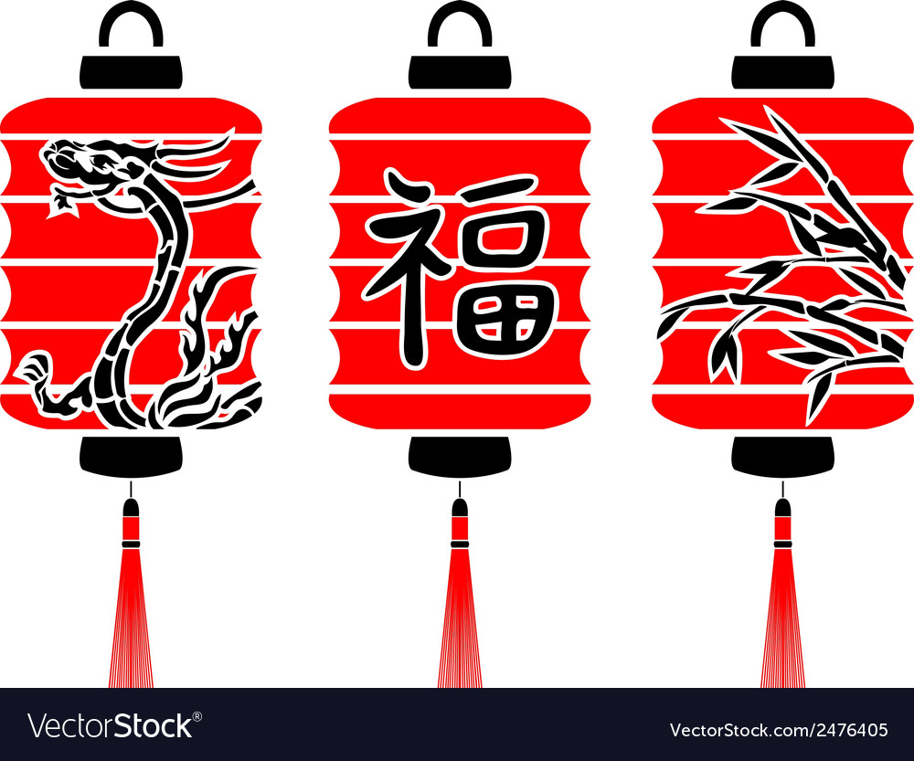 Japanese lanterns Royalty Free Vector Image - VectorStock for Japanese Lamp Vector  181plt