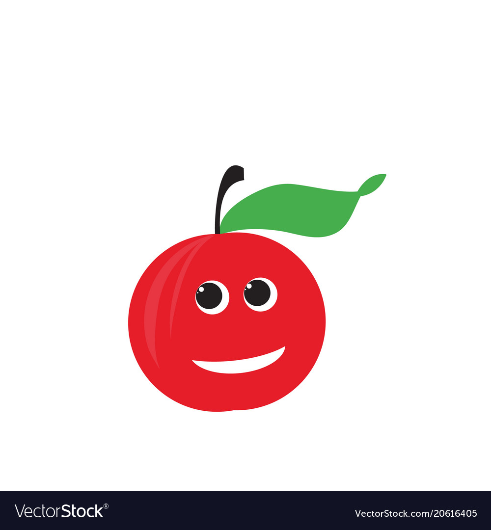 Red apple fruit happy apple