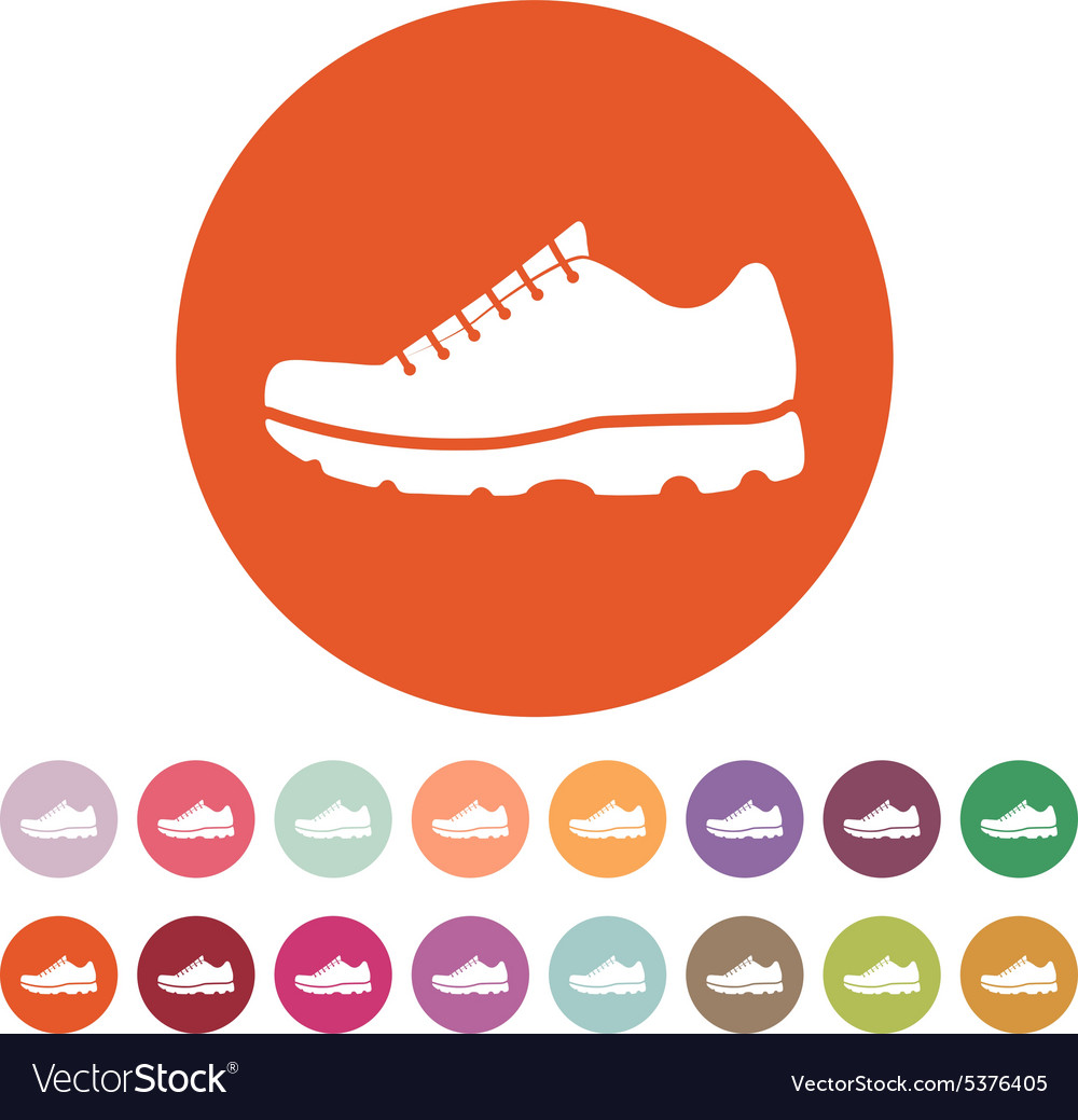 The sneaker icon Shoes symbol Flat Royalty Free Vector Image 31f365503f63