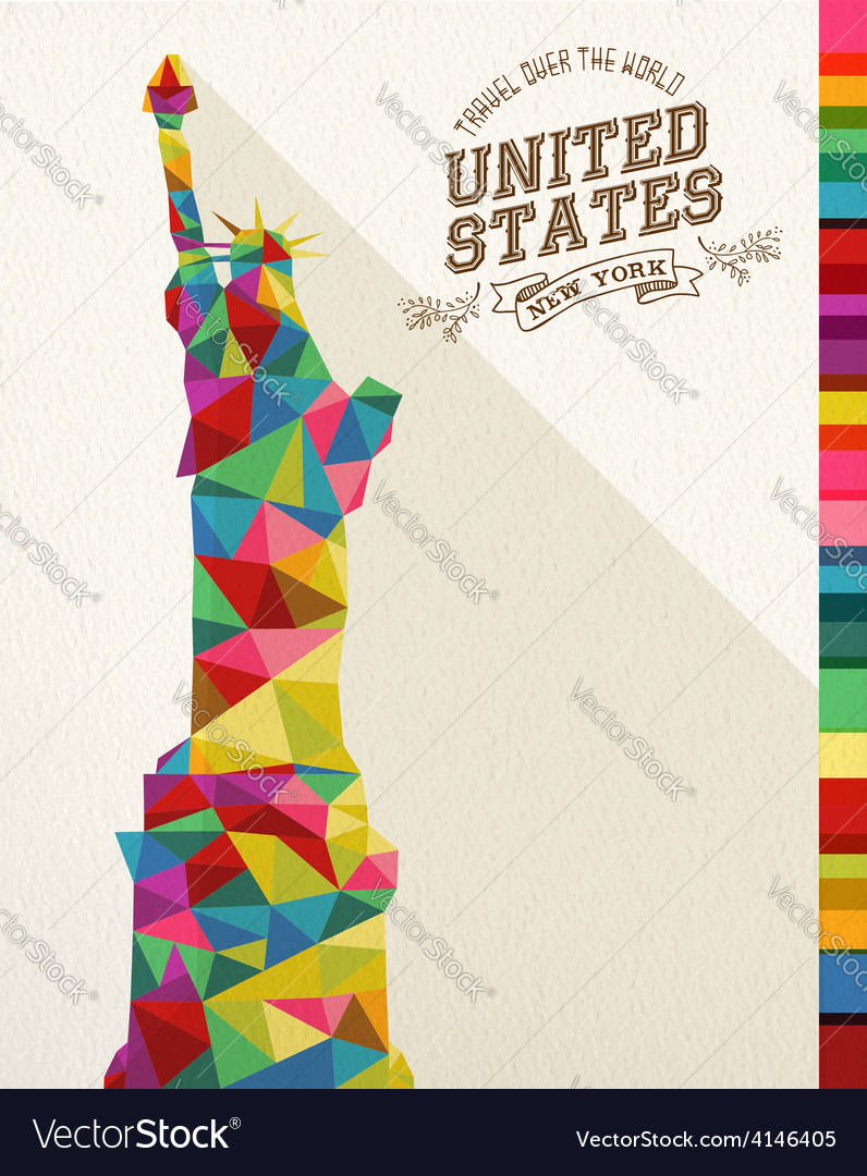 Travel USA landmark polygonal monument