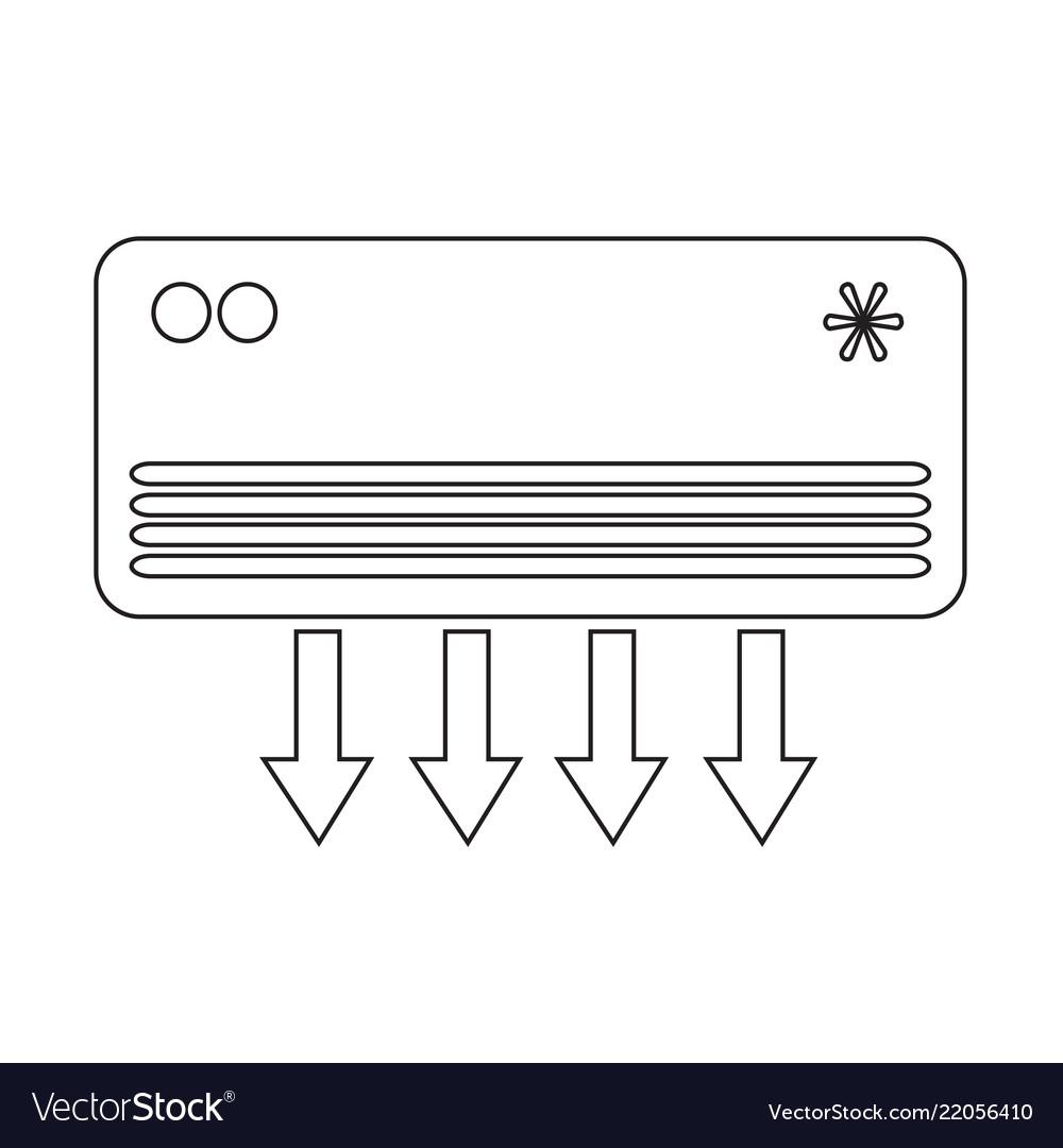 Air conditioner icon design