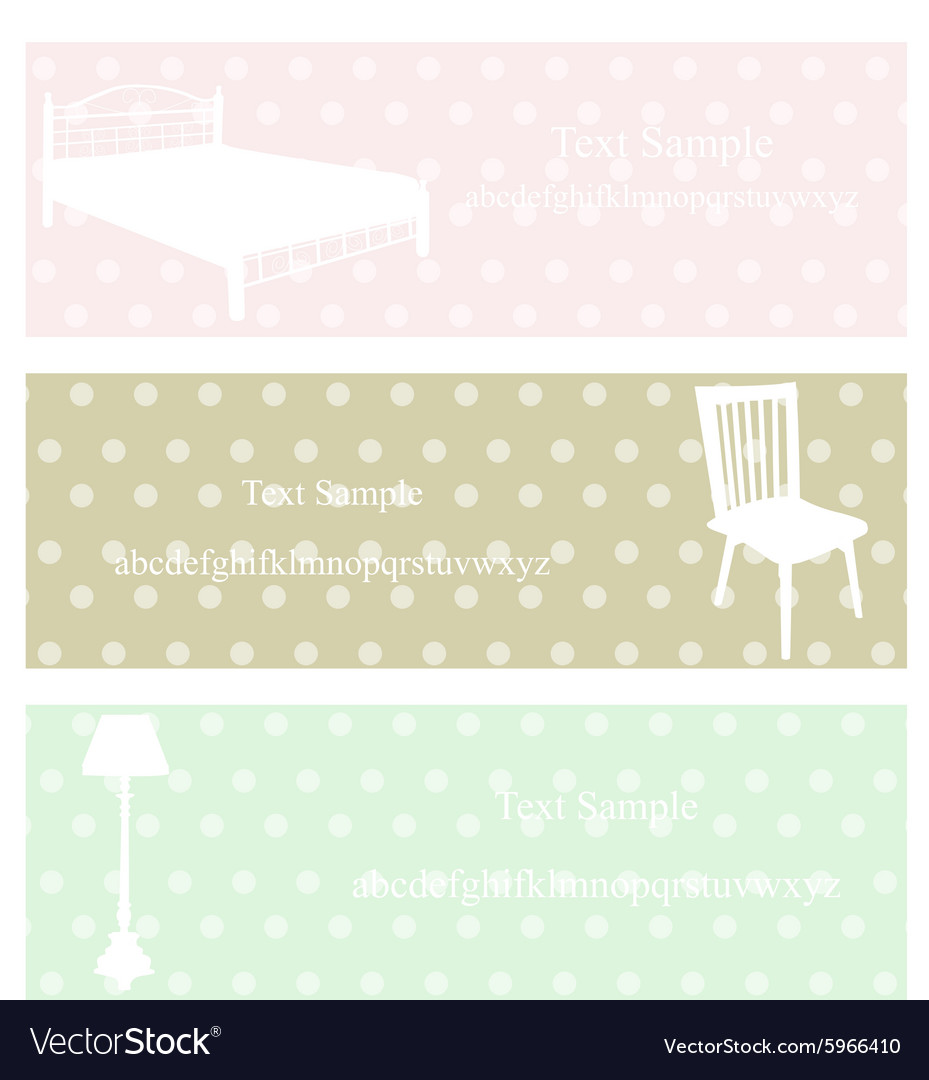 Bed chair lamp vector image