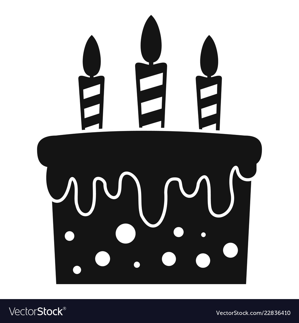 Birthday Cake Icon Simple Style Royalty Free Vector Image