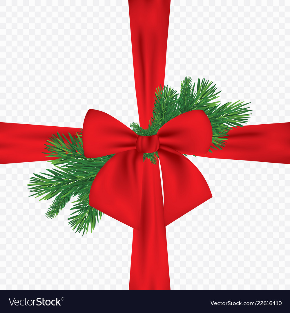 Christmas 3d realistic pine branches with