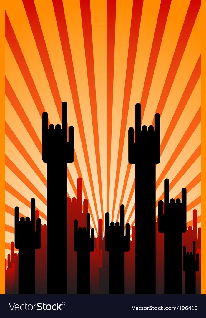 Concert hands vector image