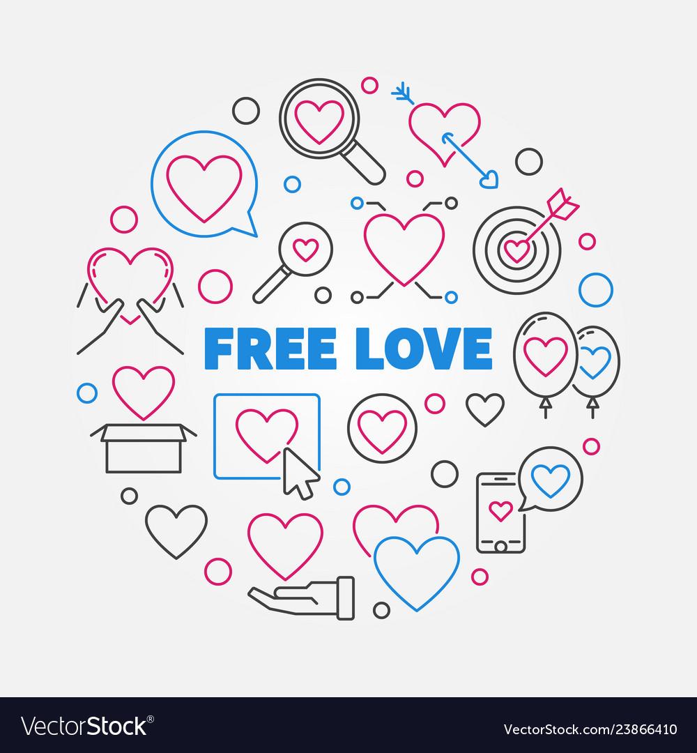 Free love round in thin line