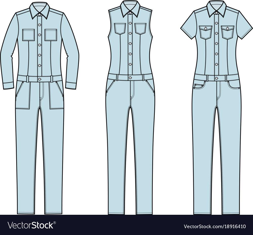 Jean overalls set