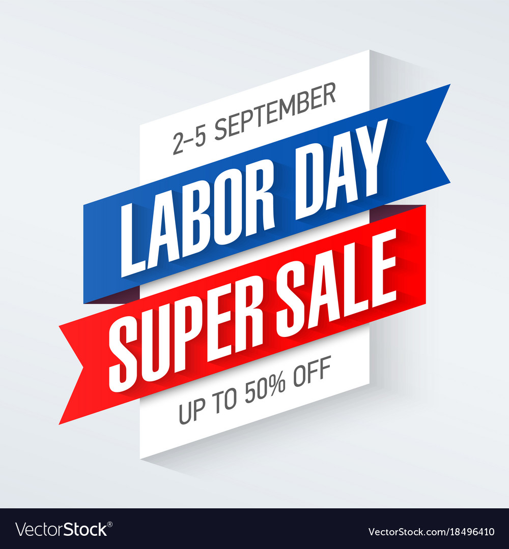 Labor Day Super Sale Special Offer Poster Banner