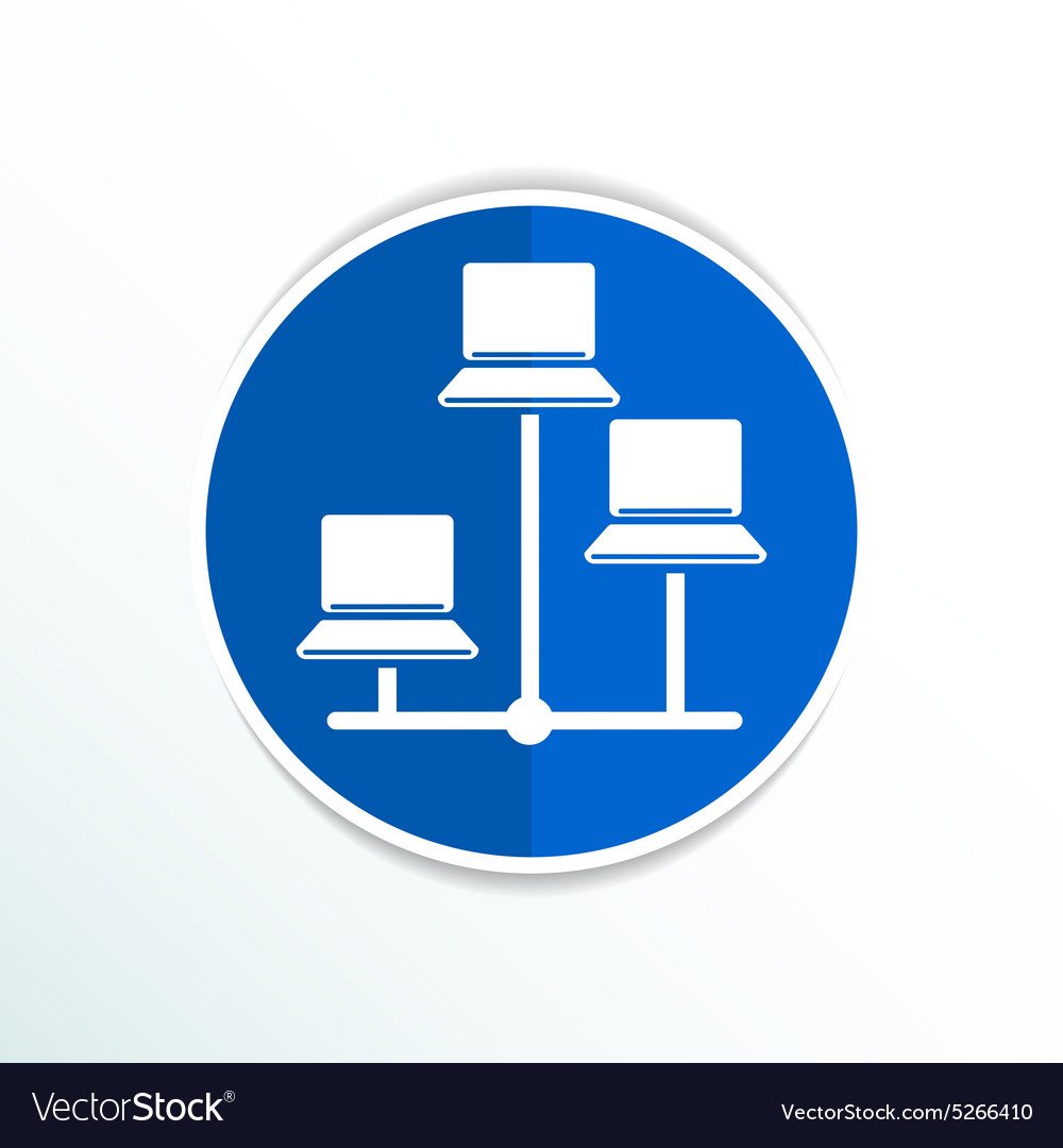 Network - icon networking wired lan web Royalty Free Vector