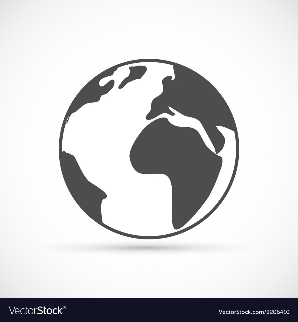 Planet Earth Icon Royalty Free Vector Image Vectorstock 7 icons icon format available: vectorstock